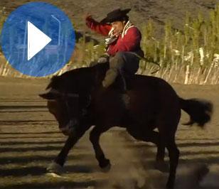 45. Jineteada gaucha en la Patagonia argentina