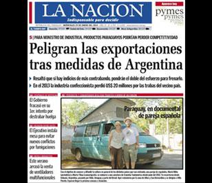 Furgo en ruta a la portada del diari La Nación