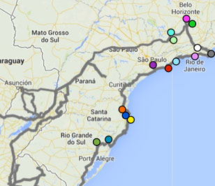 (Español) La ruta por el sur de Brasil