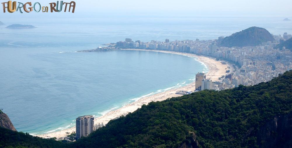 Platja de Copacabana. Río de Janeiro.