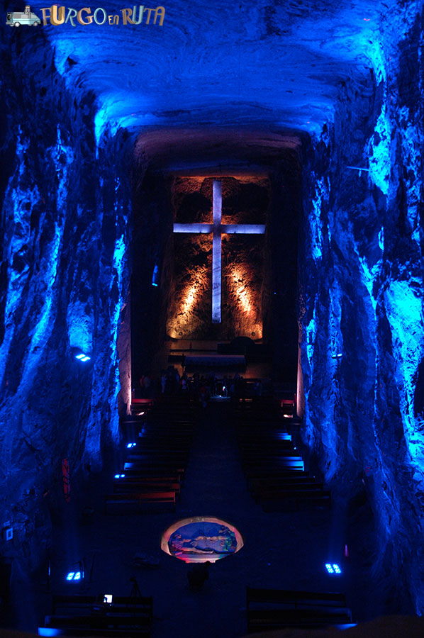 interior de la catedral de sal de Zipaquirá