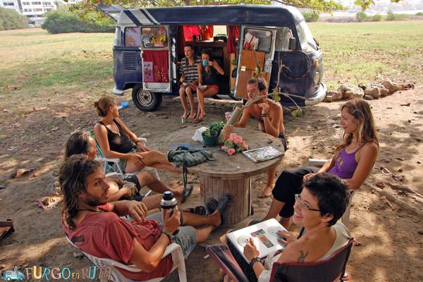 Encuentro de viajeros en el Laguito, en Cartagena de Indias