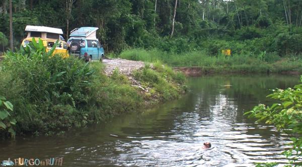Un buen baño en río Blanco