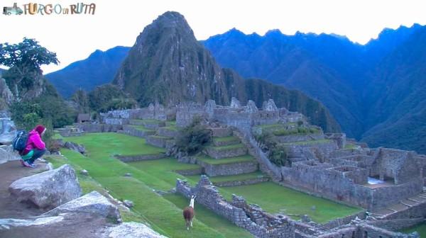 A solas en el Machu Picchu, a primera hora de la mañana