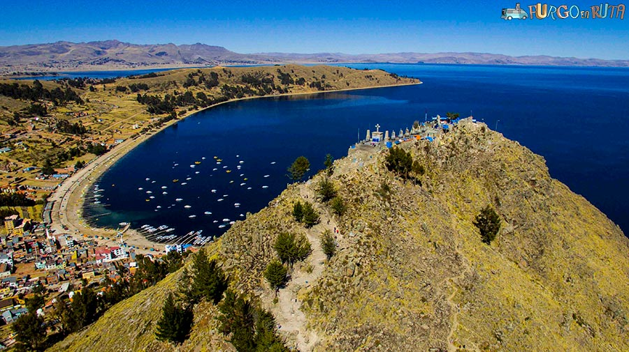 Titicaca bay from Monte Calvario