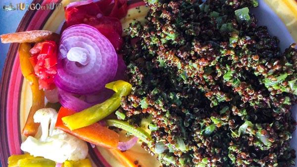 La quinua es un ingrediente que cocinamos habitualmente en nuestra ruta por Bolivia.
