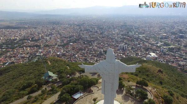 Cochabamba desde el Cristo de la Concordia.