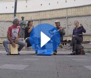 Free street music in Cuenca, Ecuador