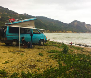 Where to sleep in camper on the coast of Ecuador (I)