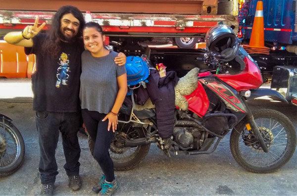 Paola y Claudio en moto