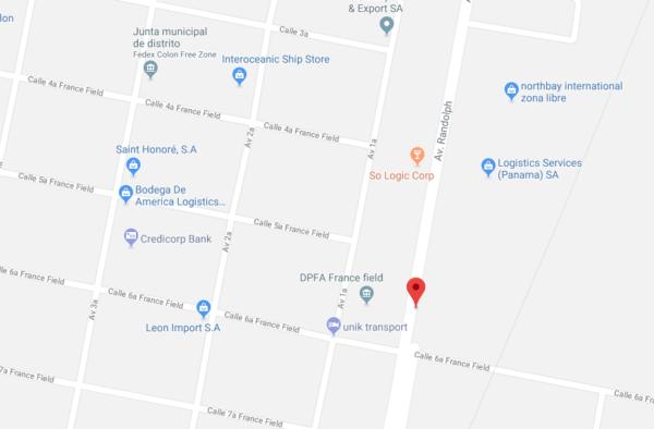 dirección aduana de panamá en el puerto colón
