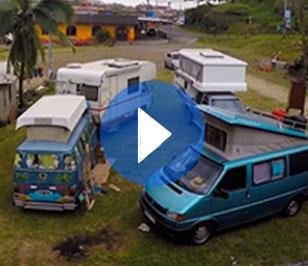 La peculiar vida camper en Portobelo, Panamá
