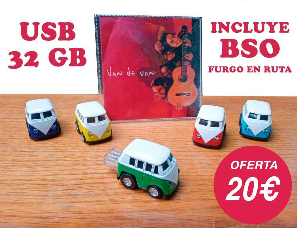 USB de música de Furgo en ruta
