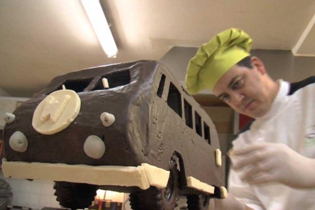 furgoneta de chocolate del Cigne